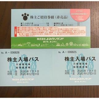 よみうりランドの株主ご招待券綴1冊(3冊まで可)(遊園地/テーマパーク)