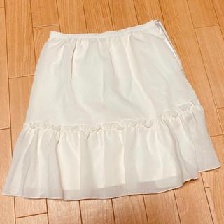 ロディスポット(LODISPOTTO)のLODISPOTTO 白スカート フリル付(ミニスカート)