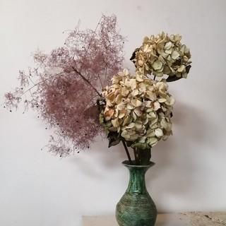 ドライ秋色紫陽花とドライスモークツリーセット(ドライフラワー)