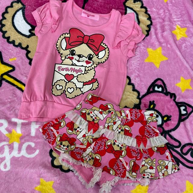 EARTHMAGIC(アースマジック)のラブレターシリーズセット キッズ/ベビー/マタニティのキッズ服女の子用(90cm~)(Tシャツ/カットソー)の商品写真