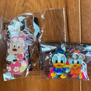 Disney - イースターミニーピンバッジ&雨の日限定チャーム