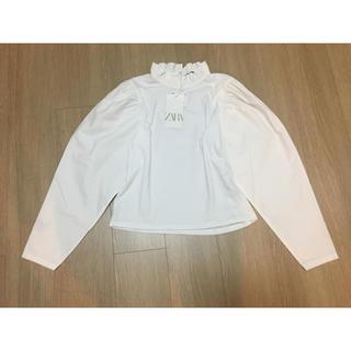 ZARA - 【新品】ZARA ザラ コンビ生地Tシャツ Sサイズ