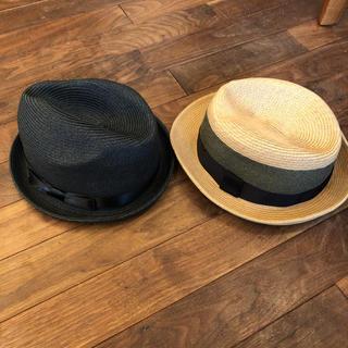 ユニクロ(UNIQLO)の【レディース】UNIQLO 2点セット 麦わら帽子(麦わら帽子/ストローハット)