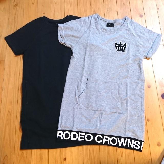 UNIQLO(ユニクロ)のロデオクラウンズ UNIQLO ユニクロ ロンT 2点セット Tシャツ レディースのトップス(Tシャツ(長袖/七分))の商品写真