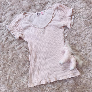 ケイティー(Katie)の今週限定 レア baby pink tops(カットソー(半袖/袖なし))
