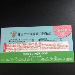 よみうりランド 株主優待券(遊園地/テーマパーク)