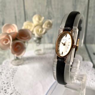 アガット(agete)の【電池交換済み】agete アガット 腕時計 オーバル ピンクゴールド(腕時計)