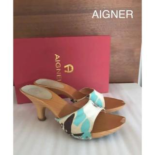 アイグナー(AIGNER)の⭐️訳あり激安❣️ ⭐️リゾート感&高級感たっぷりのサンダル 装いのアクセントに(サンダル)