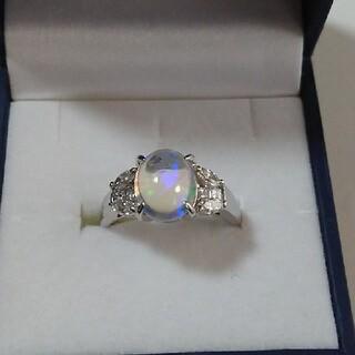 ウォーターオパールダイヤモンドリング(リング(指輪))