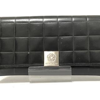 クレイサス(CLATHAS)のクレイサス 長財布 黒×シルバー レザー(財布)