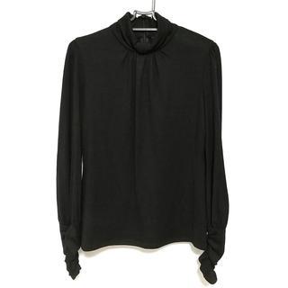 エポカ(EPOCA)のエポカ 長袖カットソー サイズ40 M美品  黒(カットソー(長袖/七分))