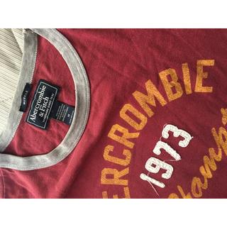 アバクロンビーアンドフィッチ(Abercrombie&Fitch)のUSED アバクロ ロゴ刺繍半袖Tシャツ送料込!(Tシャツ/カットソー(半袖/袖なし))