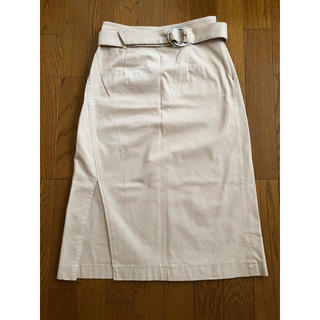 マーキュリーデュオ(MERCURYDUO)のタイトスカート ベージュ(ロングスカート)