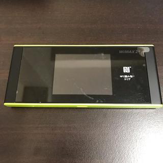 au - Speed Wi-Fi NEXT W05 [ブラック×ライム] モバイルルーター