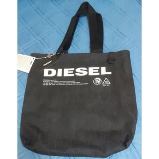 ディーゼル(DIESEL)のDIESEL ロゴデニム ブラック トートバッグ 新品・未使用(トートバッグ)