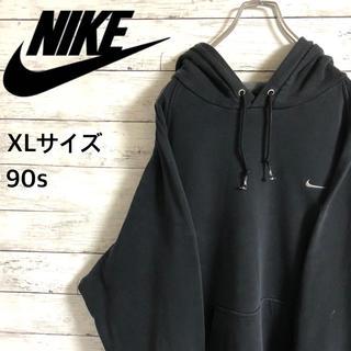 NIKE - 【激レア】ナイキNIKE☆刺繍ワンポイントロゴ ブラック パーカー 90s 裏毛