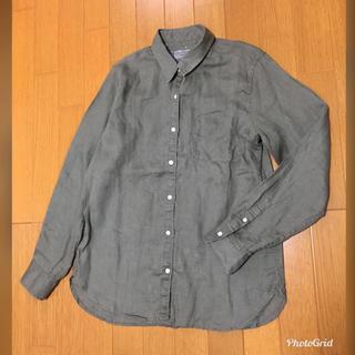MUJI (無印良品) - 無印良品  MUJI  リネンシャツ(カーキ)