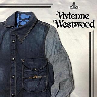 ヴィヴィアンウエストウッド(Vivienne Westwood)の希少 viviennewestwood ANGLOMANIA デニムシャツ(シャツ)