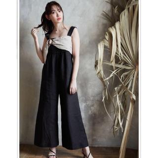 snidel - herlipto Two-tone Linen Jumpsuit
