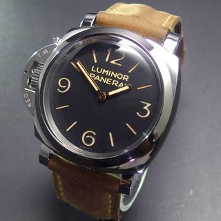 パネライ(PANERAI)の美品 国内正規品 パネライ PAM00557 レフトハンド 3デイズ 手巻き (腕時計(アナログ))