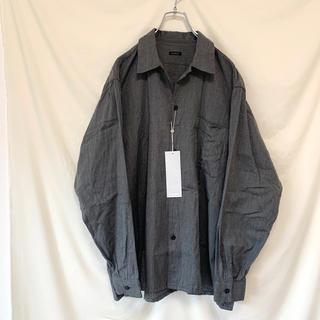 コモリ(COMOLI)の20aw COMOLI ヨリ杢 オープンカラーシャツ サイズ3(シャツ)