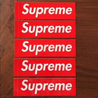 シュプリーム(Supreme)のSupreme Box Logoステッカー 5枚組 (赤)(その他)