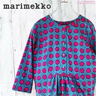 マリメッコ(marimekko)のmarimekko 総柄 5分丈 ヘンリーネック カットソー 32 ブラウス(カットソー(長袖/七分))