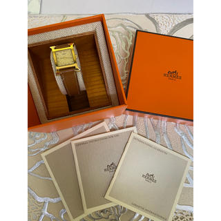 エルメス(Hermes)のHERMES エルメス 時計 エイチウォッチ H ゴールド ブラウン(腕時計)