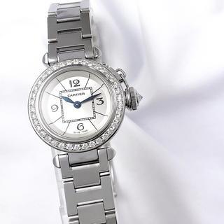 カルティエ(Cartier)の【仕上済】カルティエ ミスパシャ ダイヤ レディース 腕時計(腕時計)