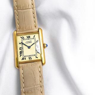 カルティエ(Cartier)の【OH済】カルティエ タンク ローマン ゴールド レディース 腕時計(腕時計)