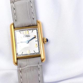 カルティエ(Cartier)の【OH済】カルティエ タンク アラビア SM ゴールド レディース 腕時計(腕時計)