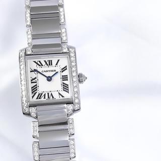 カルティエ(Cartier)の【仕上済】カルティエ フランセーズ SM シルバー ダイヤ レディース 腕時計(腕時計)