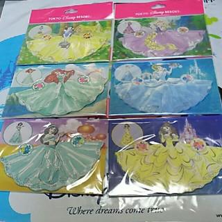 Disney - ディズニー プリンセス メモ 6セット