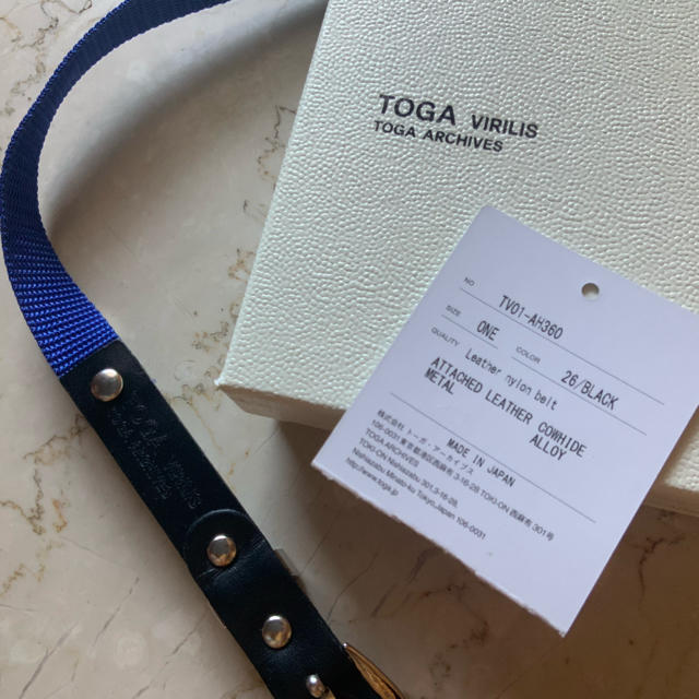 TOGA(トーガ)のTOGA トーガ 新品未使用2020SS LEATHER NYLON BELT メンズのファッション小物(ベルト)の商品写真