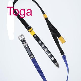 トーガ(TOGA)のTOGA トーガ 新品未使用2020SS LEATHER NYLON BELT(ベルト)