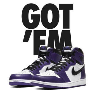 "NIKE - NIKE AIR JORDAN 1 ""COURT PURPLE"""