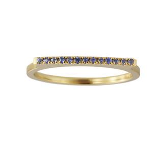 アーカー(AHKAH)のAHKAH カナロア サファイアリング k18 サファイヤ 指輪(リング(指輪))