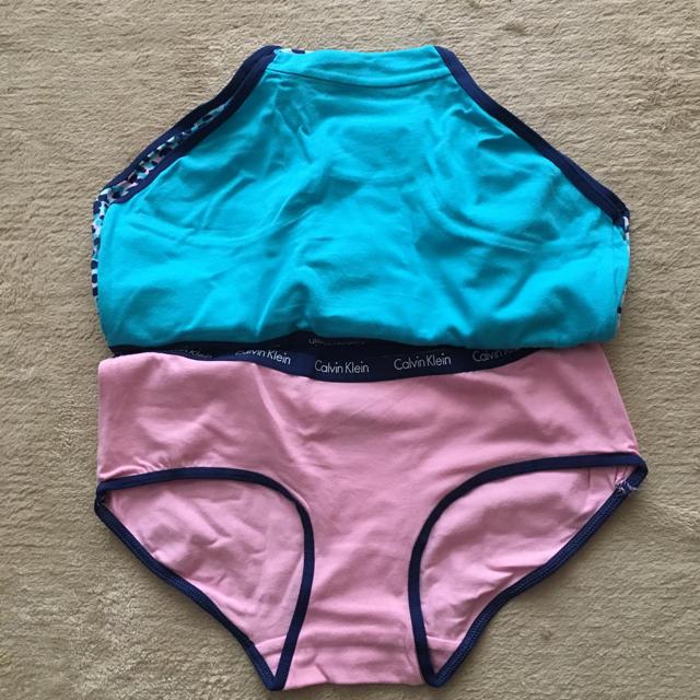 Calvin Klein(カルバンクライン)の【カルバン・クライン】3枚セットレアカラー hipsters ピンク/ブルー/柄 レディースの下着/アンダーウェア(ショーツ)の商品写真