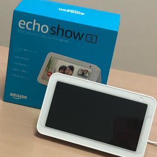 エコー(ECHO)のAmazon echo show5 ホワイト(スピーカー)