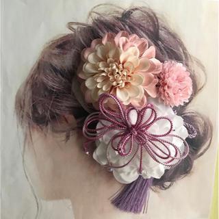 愛らしい髪かざり 袴 卒業式 結婚式 成人式 髪飾りはかまにかみかざり