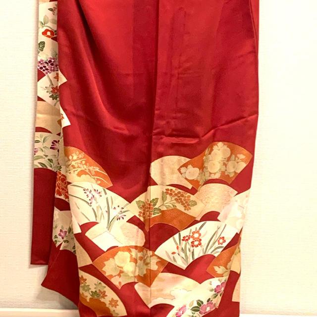 着物 和服 赤 レディースの水着/浴衣(着物)の商品写真