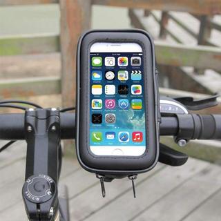 Lサイズ スマホホルダー 自転車 バイク 防水  防塵(パーツ)