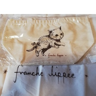 franche lippee - フランシュリッペ シルエットねこ ノベルティ キャンバストートバッグ