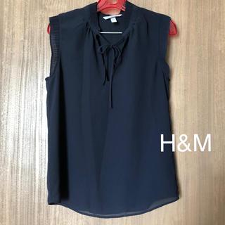 エイチアンドエム(H&M)のH&M ノースリーブブラウス(シャツ/ブラウス(半袖/袖なし))