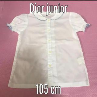 baby Dior - Dior junior ブラウス 105 ホワイト フリル ディオール シャツ