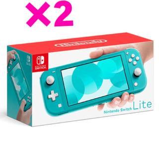 Nintendo Switch - 【新品】Nintendo Switch  Lite ターコイズ ×2