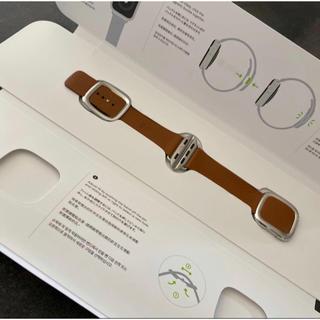 Apple Watch - Apple Watch バンド ベルト 正規品 モダンバックル サドルブラウン