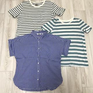 MUJI (無印良品) - Tシャツ、ブラウス、3点セット、M〜Lサイズ