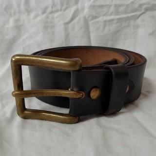 アートブラウン(ART BROWN)のほぼ未使用 アートブラウン クロムエクセル ブラック レザー ベルト 38 真鍮(ベルト)