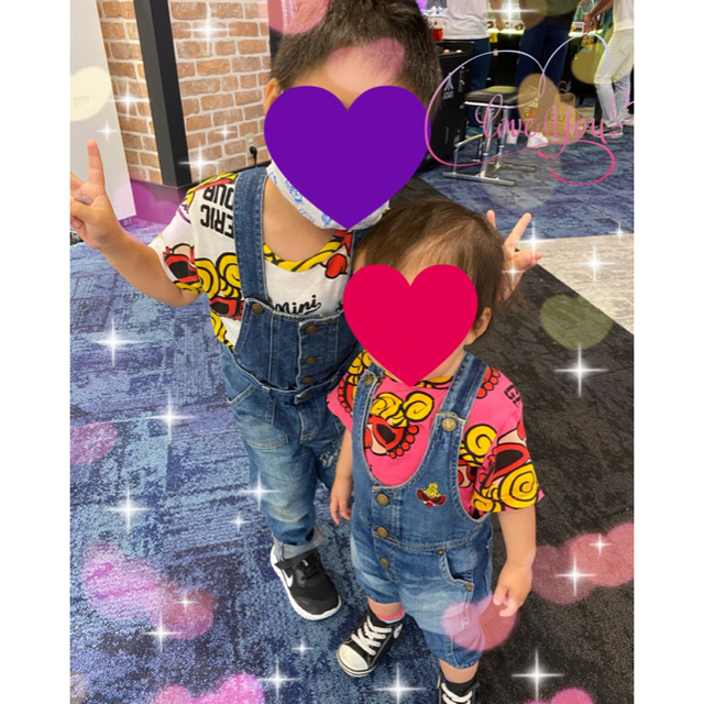 HYSTERIC MINI(ヒステリックミニ)のフェイスT🧸刺繍パンツ キッズ/ベビー/マタニティのキッズ服男の子用(90cm~)(Tシャツ/カットソー)の商品写真